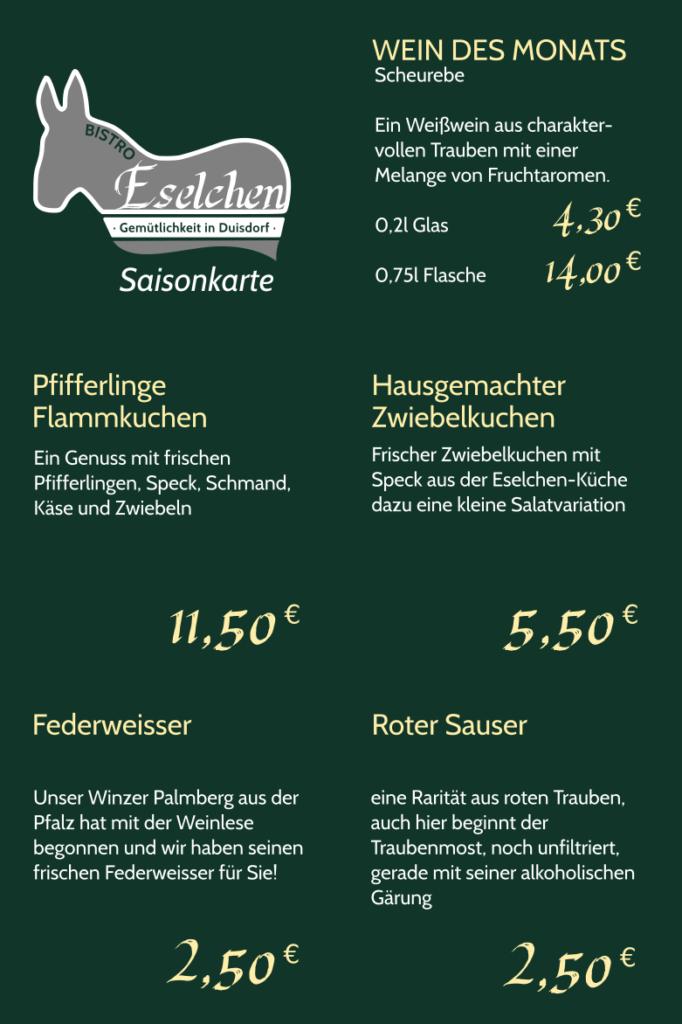 Saisonkarte Herbst 2017