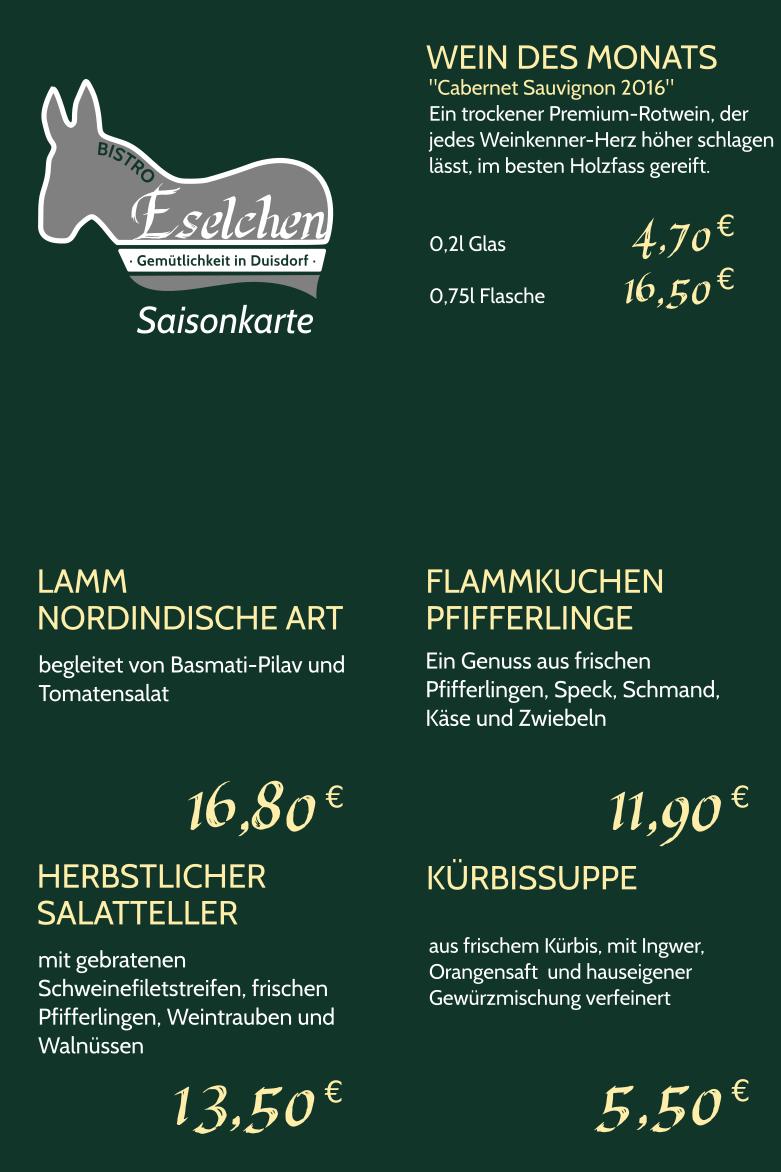 Saisonkarte Herbst 2019