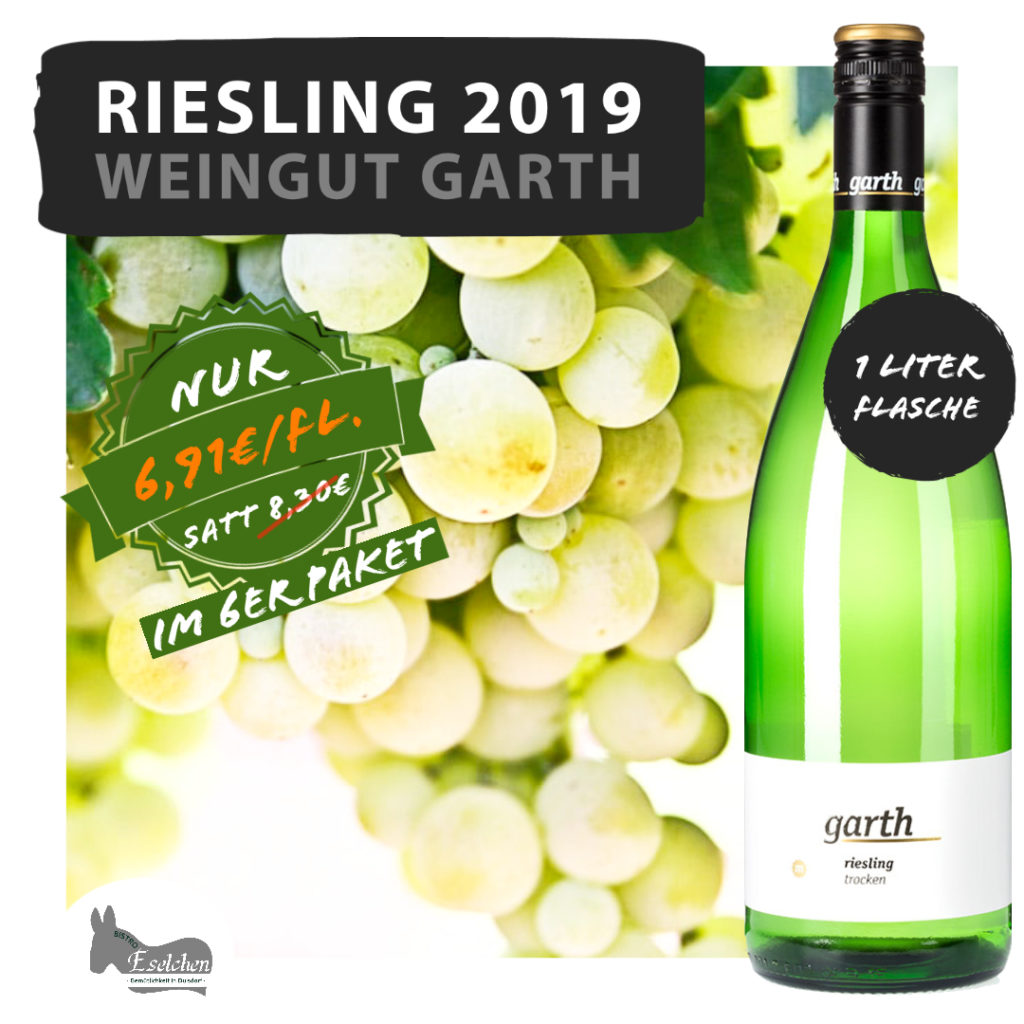 Der 2019 Riesling bei uns im Weinshop in Bonn.